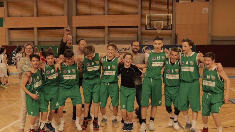 Slika: Gimnazijci koroški prvaki v košarki