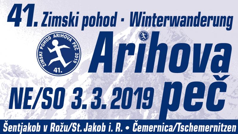 """Bild: 41. Winterwanderung »ARIHOVA PEČ"""""""