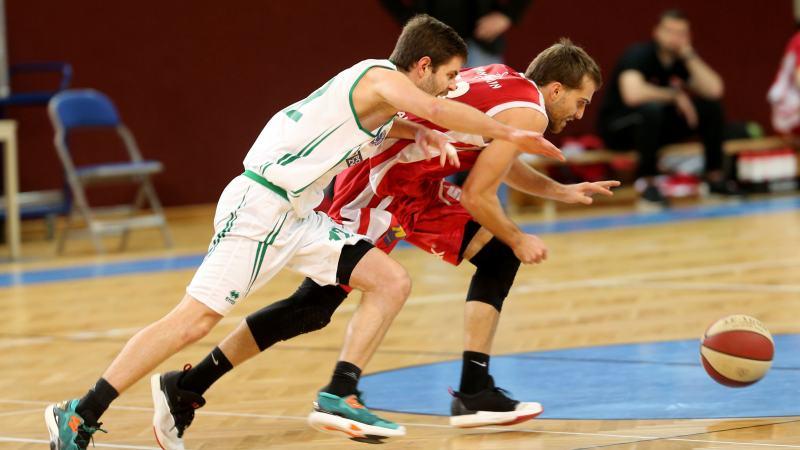 Slika: Zmaga slovenskih košarkarjev na domačih tleh