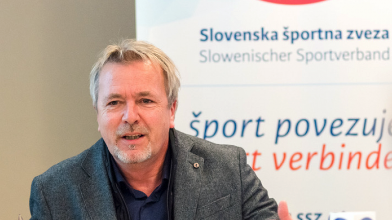 Bild: Aufruf des Slowenischen Sportverbandes