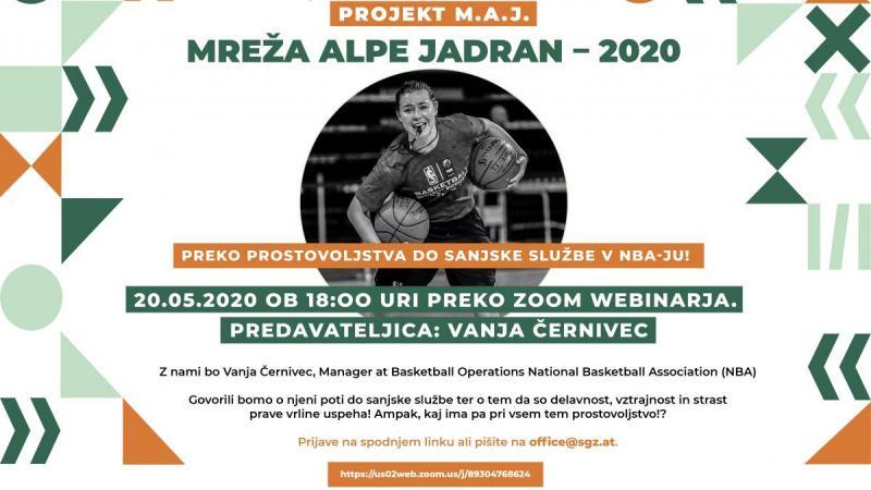 Slika: Webinar projekta M.A.J. 2020