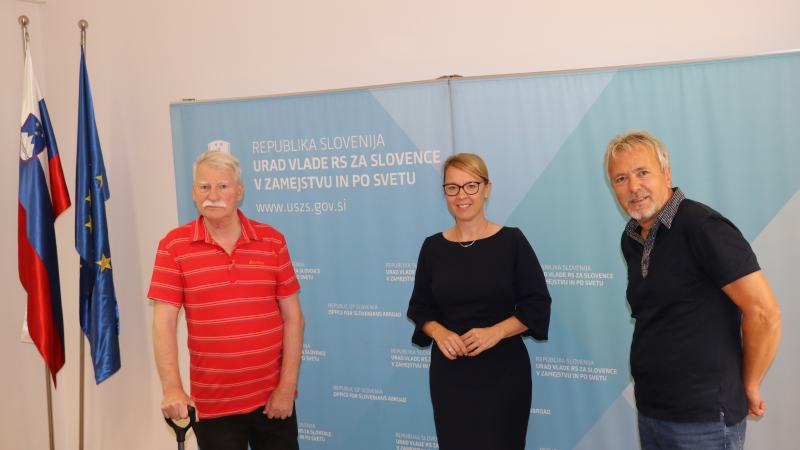 Slika: Srečanje ZSŠDI in SŠZ na Uradu RS za Slovence v zamejstvu in po svetu