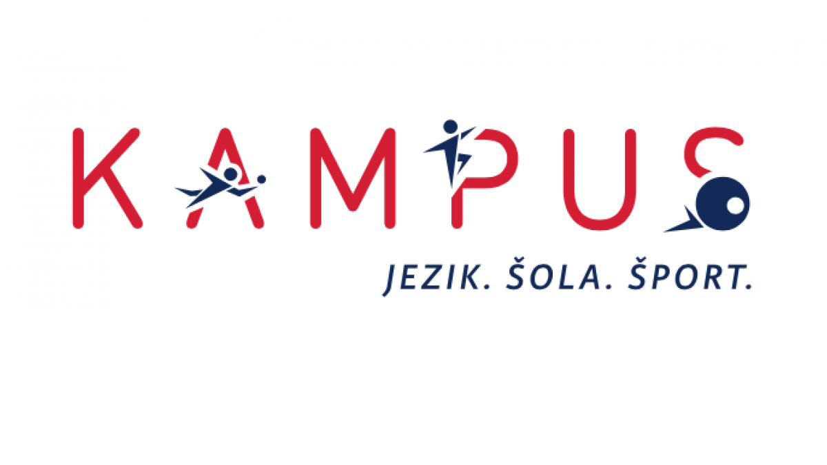 Slika: Kampus - Jezik. Šola. Šport.